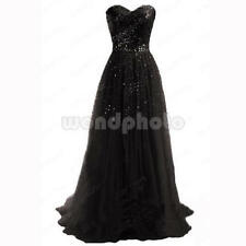 Long Bridesmaid Dress Formal Gown Ball Party Cocktail Evening Prom Maxi UK 10 12