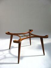 Rare 1950s Cherrywood/Brass Coffee Table by William Watting gio ponti parisi era