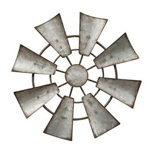 "Galvanized windmill handing Ornament 6.5""  Rustic Country Farm Decor"