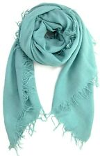 Chan Luu Cashmere/Silk Scarf Mineral Blue/Green Is Light As A Feather NEW!