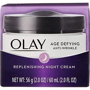 Olay Age Defying Anti-Wrinkle Replenishing Night Cream, 2.0 oz