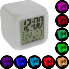 LED Würfelwecker bunt Wecker Würfel in Würfelform Digital Uhr mit Farbwechsel