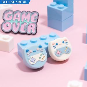 GeekShare 4PCS Cat Thumb Grip Caps for Nintendo Switch & Lite Joystick Covers