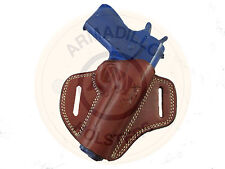 Left Hand Armadillo Tan Leather Butterfly Belt Holster for 1911 (G6L) (OWB)