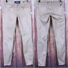 Lucky Brand Shiny Pink Tan Jeans Size 00/24 Skinny Casual