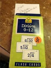 Division Flashcards Flash Cards 0-12 Math Games Elementary Homeschool Mathematic