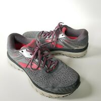 Brooks Women's Adrenaline GTS 18 Running Shoes Gray/Pink/Silver, Size 7.5