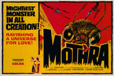 Vintage Science Fiction Horror Movie Poster Mothra