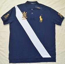 New 3XLT 3XL TALL POLO RALPH LAUREN Men's Big Pony Sash rugby shirt top 3XT gold