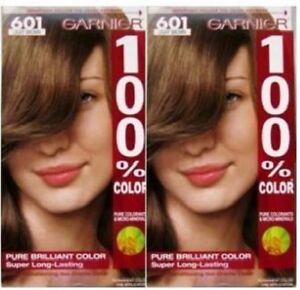2 GARNIER HAIR COLOR #601 LIGHT BROWN LONG LASTING COLOR FREE SHIPPING USA RARE