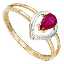 Diamant solitäre Echtschmuck-Ringe aus Gelbgold