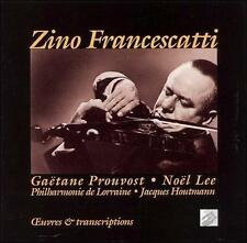 ZINO FRANCESCATTI: OEUVRES & TRANSCRIPTIONS (NEW CD)