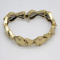 Lucky Brand jewelry vintage gold tone stretch bangle tennis bracelet for women