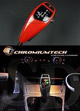 BMW E90 E91 E92 E87 E82 E84 LED ROSSO SHIFT GEAR KNOB RHD con luce di posizione del cambio