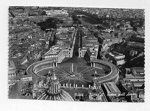 Rome Vatican St Peters Square Aerial View Vintage RPPC Postcard