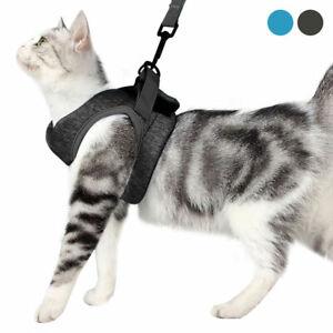 Pet Dog Cat Harness Puppy Soft Leash VEST Breathe Adjustable Braces Clothes AU
