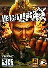 Mercenaries 2 - World in Flames  (PC, 2008) Rated T for Teen,