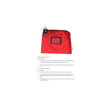 Locking Bank Bag Canvas Keyed Security Red 76161228