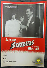 Original Fetaque Sanders Shrinking Head Flyer