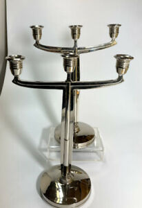 Art Nouveau Secessionist Candlesticks