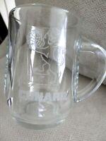 Cunard Logo Glass Mug, Luxury Cruise Ships, Ocean Liners, EUC