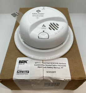 First Alert, BRK SC9120B Hardwire Combination Smoke/Carbon Monoxide Battery Back