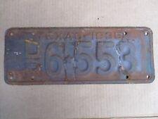 1935 TEXAS DEALER LICENSE PLATE ORIGINAL FORD CHEVY GMC 35 HOT RAT STREET ROD
