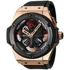 Hublot Big Bang King Power Unico GMT King Gold Black Rubber Mens Watch