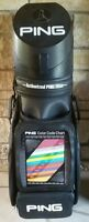 PING Display Club Fitting Center Golf Bag w/ Cover, Code Chart, Irons Shafts Lot