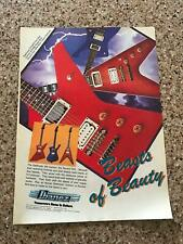 1982 VINTAGE 8X11 PRINT AD FOR IBANEZ GUITARS BEASTS OF BEAUTY DESTROYER,ICEMAN+