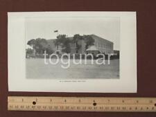 1899 Ponce Puerto Rico Photogravure Print - Military Barracks El Castillo