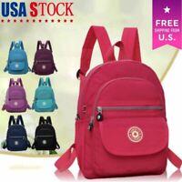 Women Mini Backpack Women Purse Nylon Shoulder Rucksack Small School Travel Bag