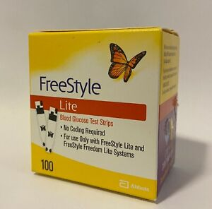 Freestyle Lite Test Strips 100ct exp 01/31/2023, Box Tears