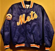 NEW YORK METS SNAP FRONT ROYAL BLUE JACKET - SIZE XL