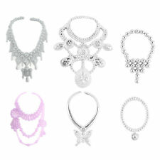 6pcs Fashion Plastic Chain Necklace For Barbie Doll Party Accessories LY