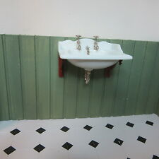 Dolls House Miniature 1:12 scale Thomas Crapper Basin TCDHD