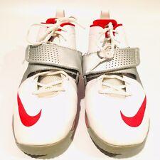 Nike Huarache Lacrosse White Red Cross Strap Athletic Shoes Mens Size 10.5 Euc