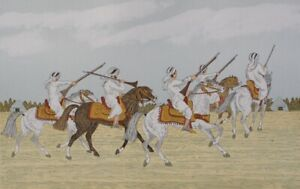 HADDELSEY : Cavaliers arabes - LITHOGRAPHIE Originale  signée #100ex
