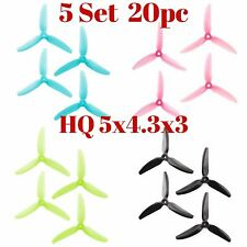 HQProp DP 5x4.3x3 PC V1S Tri-Blade Propeller Props for FPV Race Mixed Color 20pc
