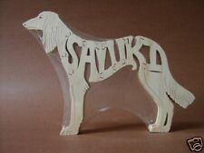 Saluki Dog Wooden Amish made Toy Scroll Saw Puzzle