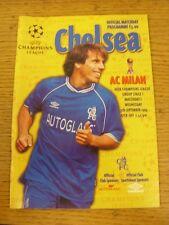 15/09/1999 Chelsea V AC MILAN COPPA DEI CAMPIONI []. buone condizioni, a meno che in precedenza