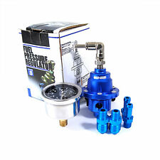 GENSSI Blue Type S Adjustable Fuel pressure Regulator FPR Universal JDM turbo