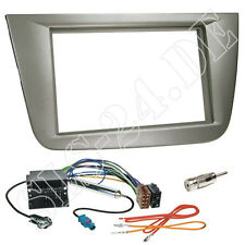 Seat Altea XL Toledo 2-DIN Autoradio Radioblende anthrazit ISO Adapterkabel SET
