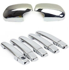 Fit For Toyota RAV4 2006-2012 Chrome Side Mirror Cover + Door Handle Cover Trim
