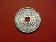 1937-1942 Utah State Tax Commission Tax Token 1 Mill