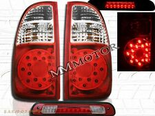 2005 06 TOYOTA TUNDRA ACCESS Cab SR5 RED LED TAIL LIGHTS & 3rd Brake Light  RED