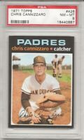 SET BREAK -1971 TOPPS # 426 CHRIS CANNIZZARO,  PSA 8 NM-MT, SD PADRES,  L@@K !