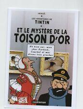 Carte Postale PASTICHE Tintin - Le mystère de la Toison d'or. d'après COURBET