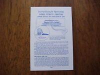 Lionel 3461 Lumber Car and 3469 Dump Car Instruction Sheet