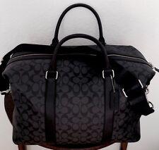 COACH Signature Voyager Men's Duffle Gym Travel Bag Charcoal/Black F54776 NWT